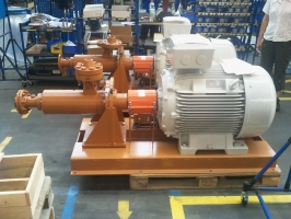 High pressure screw pumps for hydraulic system
